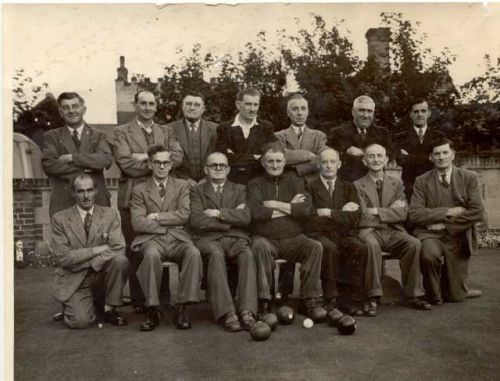 1940s Bowls team behind the Tyneside, Sheringham